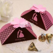 New Style Blue Pink Wedding Box Gift Box Candy Box Cb2025 Gold