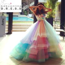 Online Get Cheap Rainbow Wedding Dress