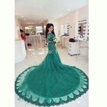 Online Get Cheap Wedding Dresses Green
