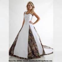 Online Get Cheap White Camo Wedding Dresses