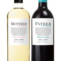Parents Wedding Gift Wine Labels Father Of The By Studioblabels