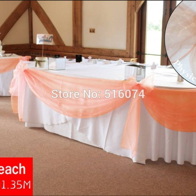 Peach Table Decoration Promotion