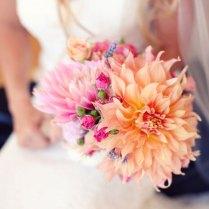 Peach Wedding Bouquets
