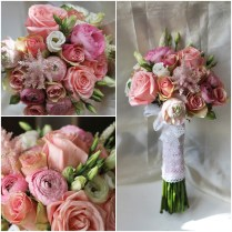 Pink And White Wedding Bouquet Ideas