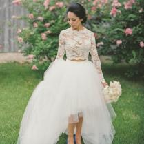 Popular 2 Piece Wedding Gowns
