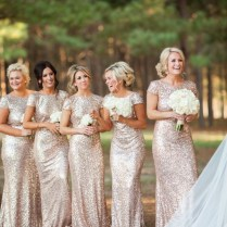 Popular Gold Bridal Party Dress