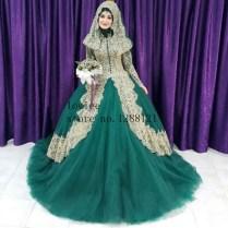Popular Green Arabic Wedding Gown