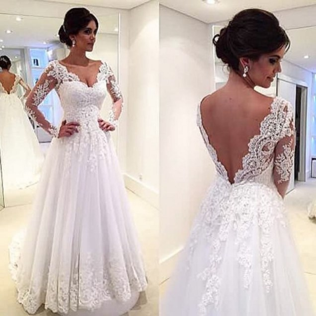 Popular Mature Wedding Dresses With Long Sleeves