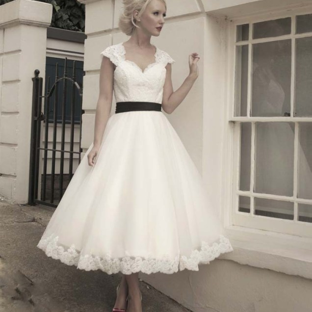 Popular Tea Length Wedding Dress Patterns