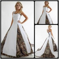 Popular White Camo Wedding Dresses