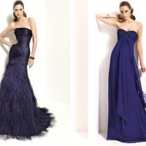 Pronovias Bridesmaids' Dresses In Midnight Blue For Fall Or Winter