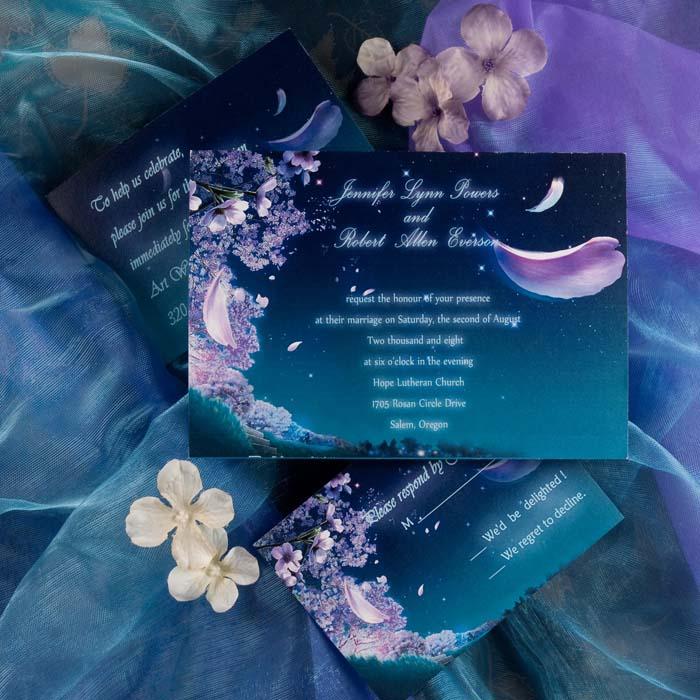 Purple & Blue Wedding Ideas