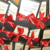 Red And Black Wedding Theme Cards
