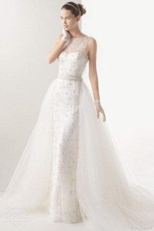 Rosa Clara Wedding Dresses 2014 Bridal Claudia Sleeveless Gown