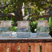 Rustic Candle Holders Rustic Flower Vase Shabby Chic Candle