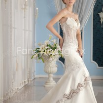 Sheer Bodice Wedding Gowns