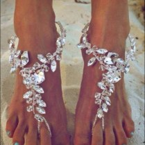 Shining Crystal Barefoot Sandals Anklet Foot Beach Wedding Bridal