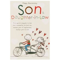 Son And Daughter In Law Wedding Day Cards Uk