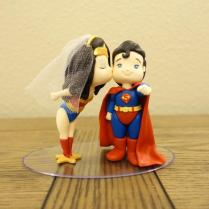Superman Wonder Woman Cake Topper Wonder Woman And Superman Cake