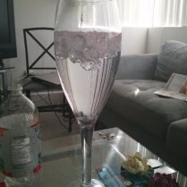 Tall Champagne Glass Centerpiece