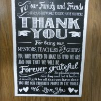 Thank You Sign Chalkboard For Wedding Reception 1000 Ideas About