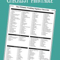 The Ultimate Wedding Registry Checklist Free Printable