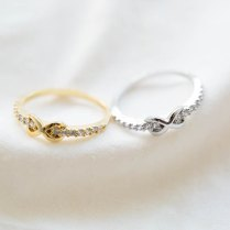 Tiny Cz Infinity Knuckle Ring Pinky Rings,cubic Zirconia