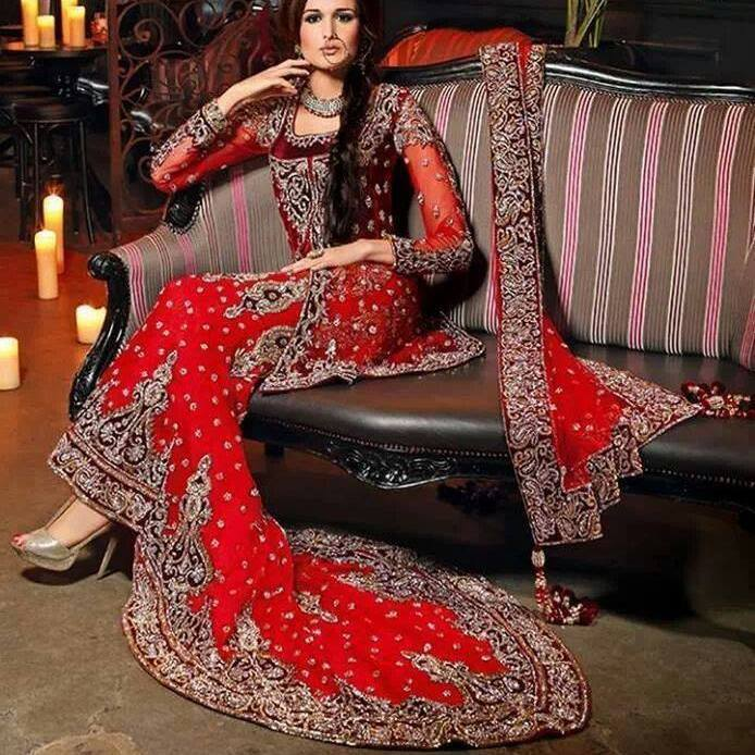 Asian Wedding Dress Red