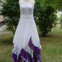 Upcycled Wedding Dress Fairy Tattered Romantic Dress Upcycled