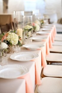 Wedding Cream And Peach Wedding Theme Unique Decorations Cream