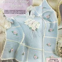 Wedding Afghan Gorgeous Wedding Ring Filet Crochet Afghan By