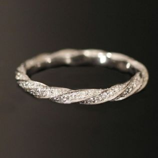Wedding Band To Fit Twist Engagement Ring