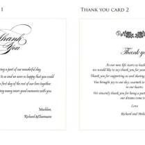 Wedding Card Thank You For Cash
