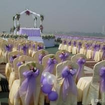 Wedding Centerpieces Tulle Yarn Elegant White Organza Voile Sheer