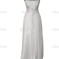Wedding Dress On Mannequin Isolated On White — Stock Photo