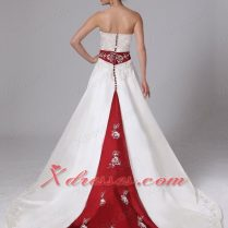 Wedding Dresses Cream And Red