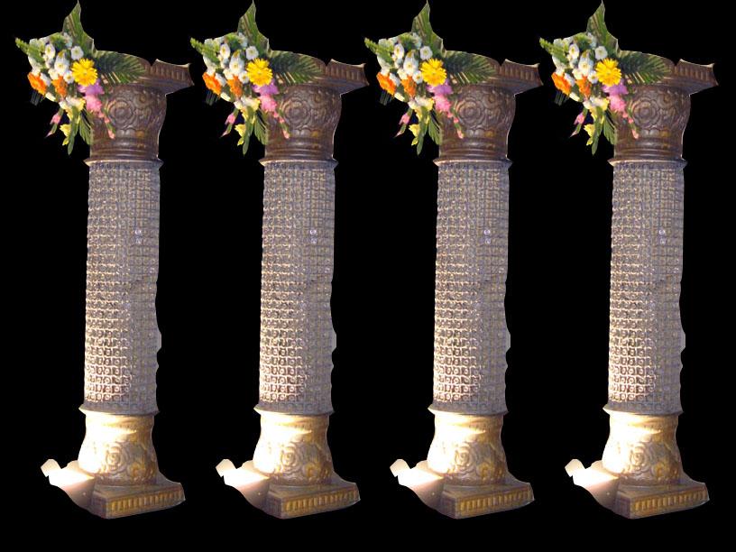 Decorated Wedding Pillars