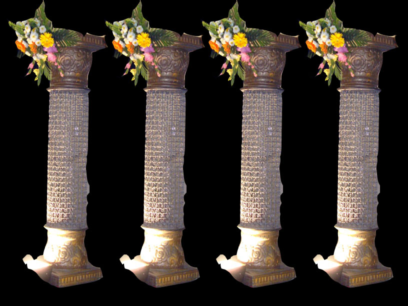 Decorated Wedding Pillars