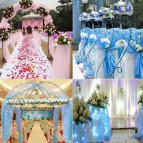 Wedding Organza Tulle Centerpieces Sashes Yarn Soft Fabric Diy