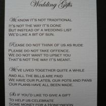 Wedding Poems Money Instead Of Gifts Picture Ideas With Wedding