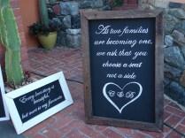 Wedding Reception Notice Boards Chalkboards