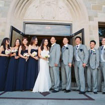 Yen Steven's Classic Navy Blue & Gray Boston Wedding