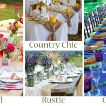 Your Outdoor Wedding Reception – What's Your Style