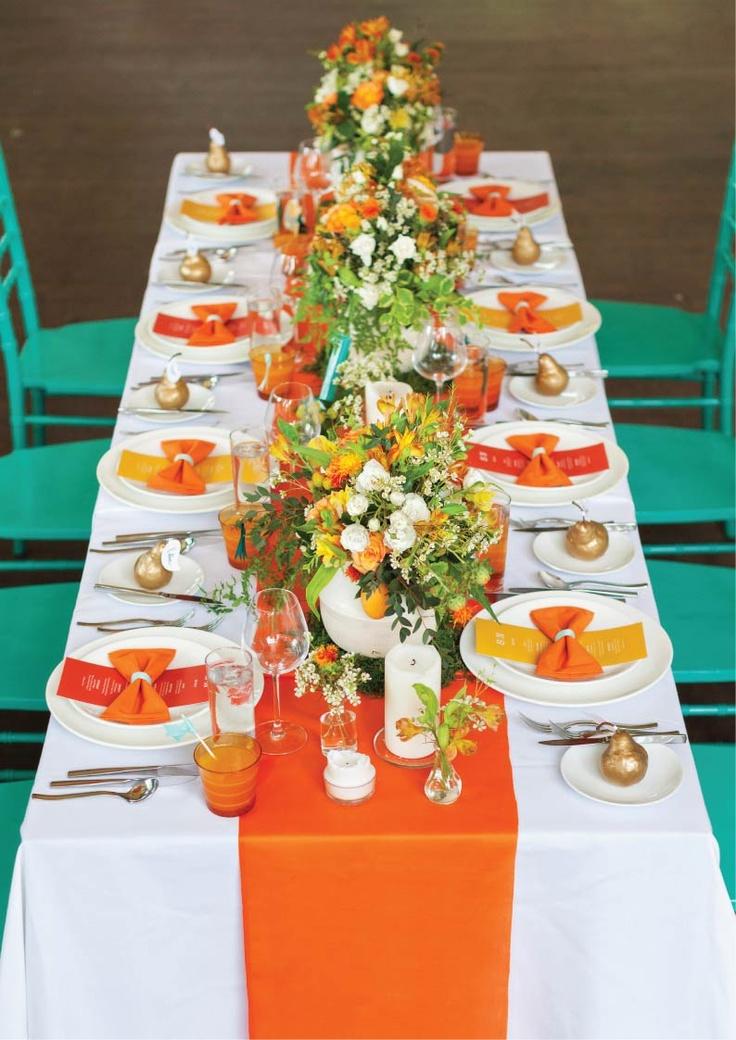 Orange Wedding Decorations