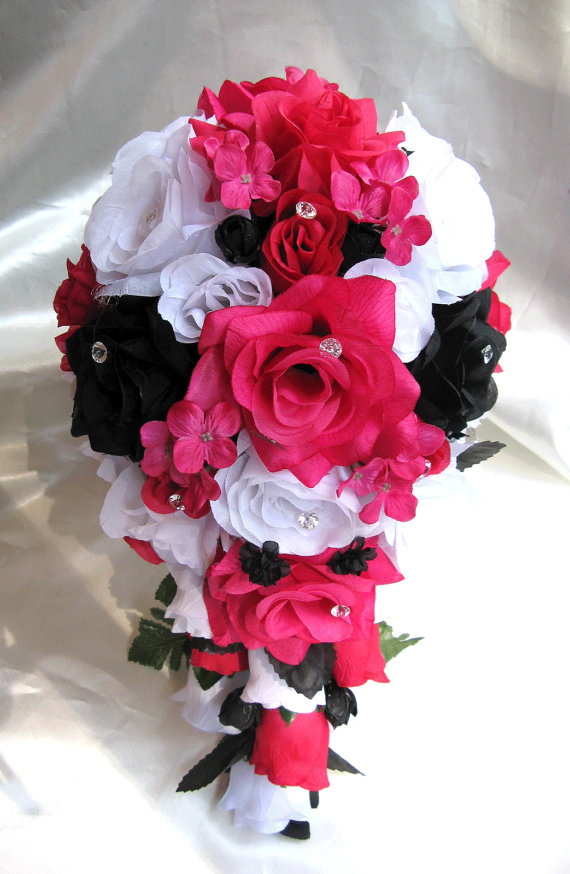 Red white and black wedding flowers red white black wedding bouquet and boutonniere 10 best images about pink and black wedding ideas on emasscraft org mightylinksfo