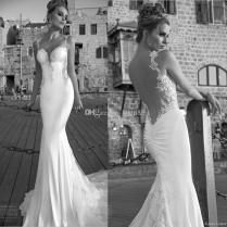 2015 New Arrival Galia Lahav Sheer Backless Wedding Dresses