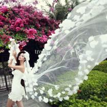 2015 New Style Lace Flower Wedding Veils Cheap Wedding Veil