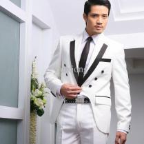 2017 Mens Dress Wear! Groom White Suit For Wedding ,design Made