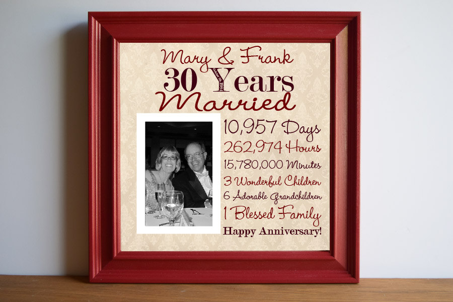 Wedding Anniversary Gift Parents: 30th Wedding Anniversary Gift Ideas