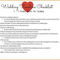 6 6 Month Wedding Checklist